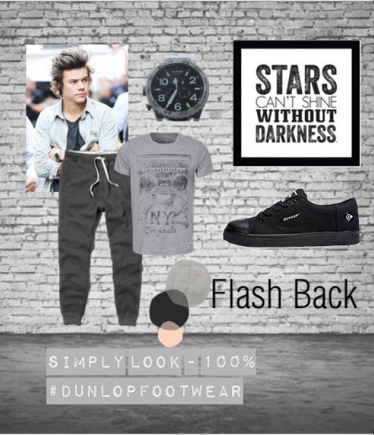 Zapatilla negra flash Dunlop Footwear